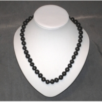 Necklace with Silvery Glaas Beads