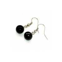 "Earrings ""The Black pearl"" of shungite, schungite"