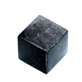 Unpolished cube for the whiskey from steatite