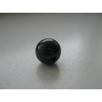 Bead of shungite 12 mm with hole, schungite, shungit