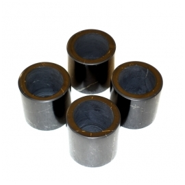 Set of 4 shot glasses with a stand