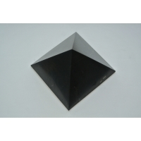 Pyramid 80x80mm polished Shungit, shungite, schungite mineral