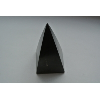 Shungite, shungit, schungite High pyramid polished 50x50x100mm