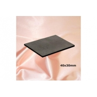 Unpolished plate for cell phone (rectangular) 40x30mm